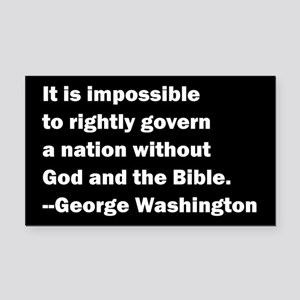 George Washington Quote Rectangle Car Magnet